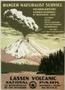 Vintage Lassen Volcanic National Park Poster, by the U.S Department of the Interior.